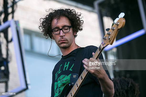 Filip Nikolic of Poolside performs at the Capitol Hill Block Party on July 26 2014 in Seattle Washington