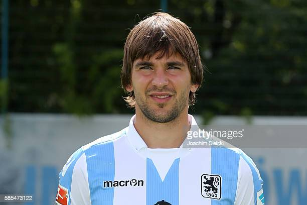 Filip Stojkovic poses during the official team presentation of TSV 1860 Muenchen at Trainingsgelaende on July 22 2016 in Munich Germany