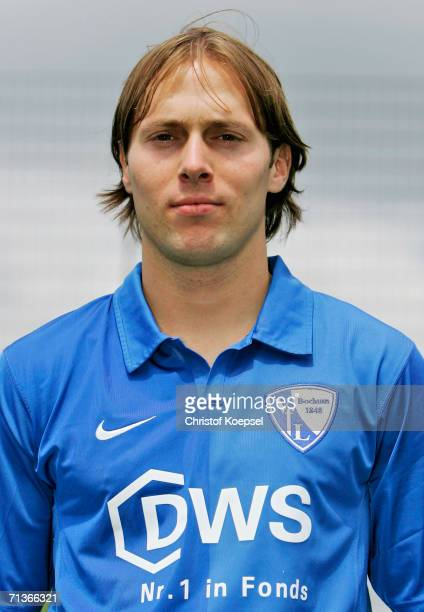 Filip Trojan poses during the Bundesliga Team Presentation of VfL Bochum on June 26 2006 in Bochum Germany