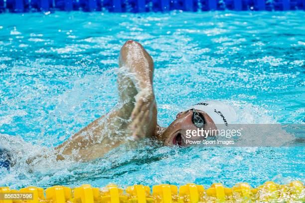 Filip Zaborowski of Poland during the FINA Swimming World Cup Men's 1500m Freestyle Final on October 01 2017 in Hong Kong Hong Kong