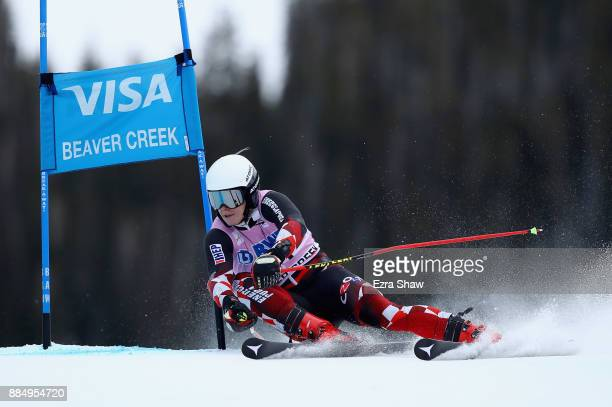 Filip Zubcic of Croatia competes in the second run of the Birds of Prey World Cup Giant Slalom race on December 3 2017 in Beaver Creek Colorado