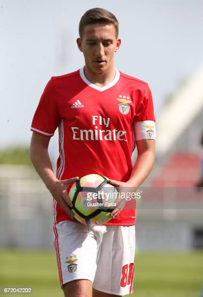 Filipe Ferreira of SL Benfica B during the Segunda Liga match between SL Benfica B and FC Porto B at Caixa Futebol Campus on April 23 2017 in Seixal...
