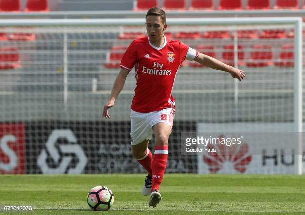 Filipe Ferreira of SL Benfica B in action during the Segunda Liga match between SL Benfica B and FC Porto B at Caixa Futebol Campus on April 23 2017...
