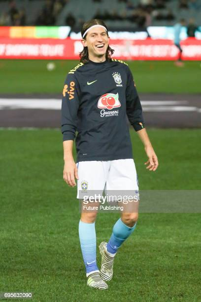 Filipe Liuis Kasmirski of Brazil during training before Brazil plays Australia in the Chevrolet Brasil Global Tour 2017 on June 13 2017 in Melbourne...