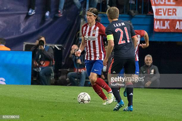 filipe luis kasmirski of Atletico de Madrid during the UEFA Champions League semi final first leg match between Club Atletico de Madrid and FC Bayern...
