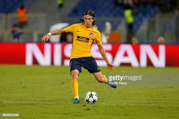 Filipe Luis of Atletico Madrid during the UEFA Champions League Group C soccer match against Roma in Rome The match ended in a 00 draw