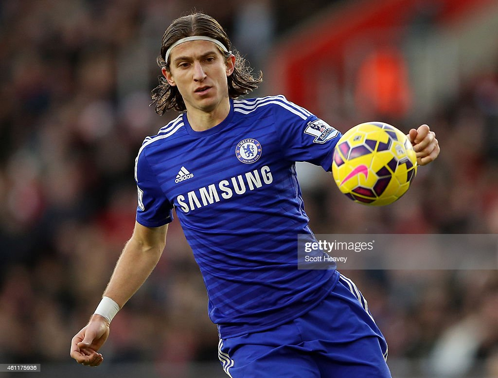 Felipe Luis of Chelsea during the Premier League match between Southampton and Chelsea at St Mary's Stadium on December 28, 2014 in Southampton, England.