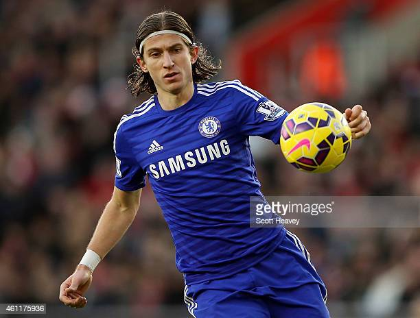 Felipe Luis of Chelsea during the Premier League match between Southampton and Chelsea at St Mary's Stadium on December 28 2014 in Southampton England