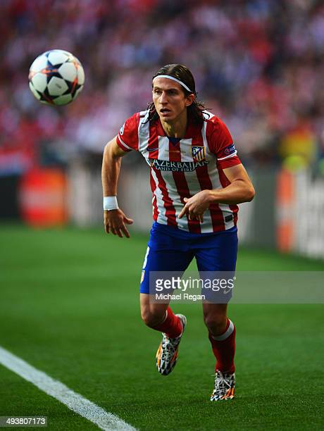 Filipe Luis of Club Atletico de Madrid in action during the UEFA Champions League Final between Real Madrid and Atletico de Madrid at Estadio da Luz...