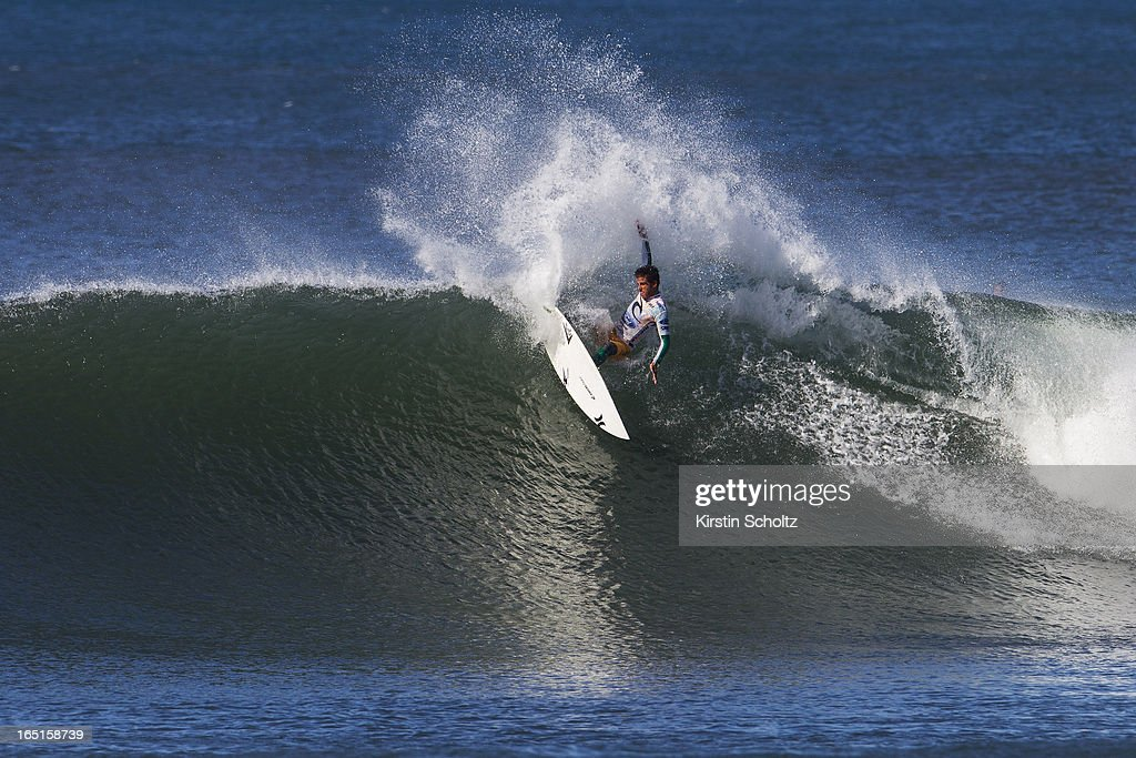 Filipe Toledo of Brasil surfs during round three of the Rip Curl Pro on April 1, 2013 in Bells Beach, Australia.