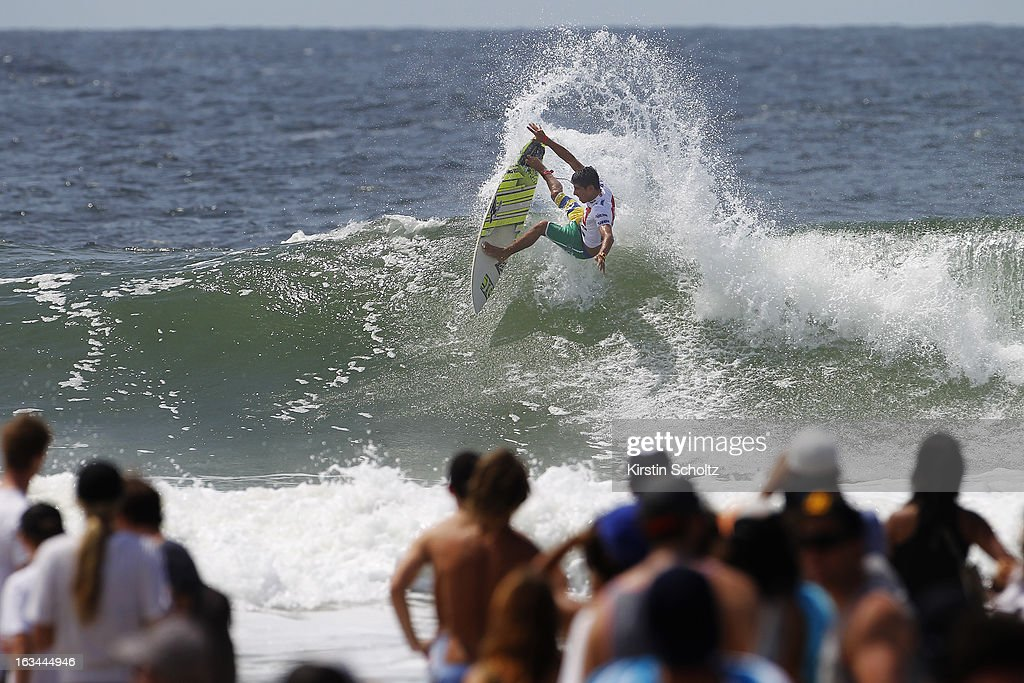 Filipe Toledo of Brasil surfs during round two during the Quiksilver Pro on March 10, 2013 in Gold Coast, Australia.