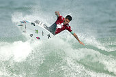 Filipe Toledo of Brazil surfs during the Final of the Oi Rio Pro on May 17 2015 in Rio de Janeiro Brazil