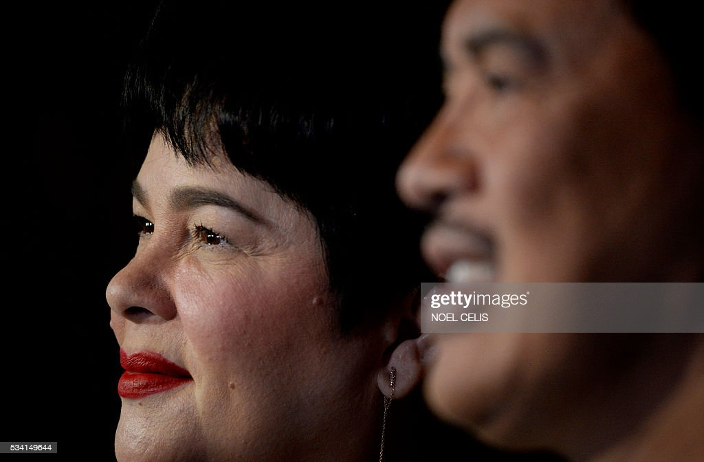 Filipina actress Jaclyn Jose attends a press conference in Manila on May 25, 2016. The Philippines' entertainment industry celebrated Jose's surprise win at the Cannes film festival, hailing her as one of the nation's hardest working and most versatile actresses who deserves global acclaim. / AFP / NOEL