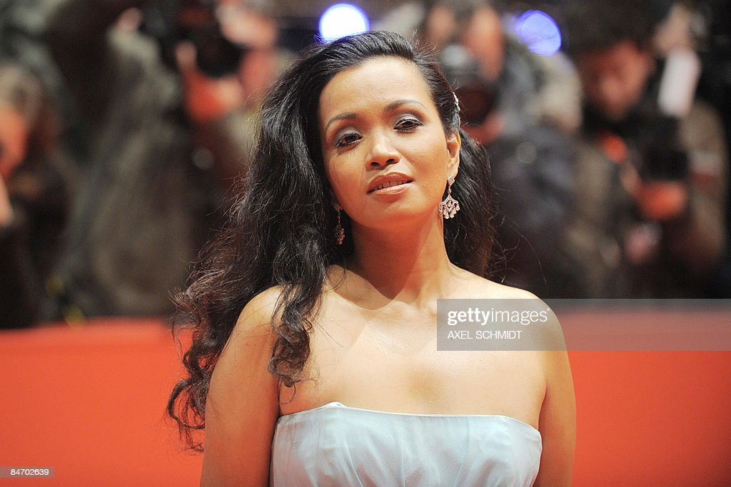 Filipina actress Marife Necesito poses on the red carpet ahead of the premiere of the film 'Mammoth' by Swedish director Lukas Moodysson and presented in competition at the 59th Berlinale Film Festival in Berlin February 8, 2009. The Berlinale is taking place from February 5 to 15, 2009 with 18 productions vying for the coveted Golden Bear for best picture to be awarded February 14.