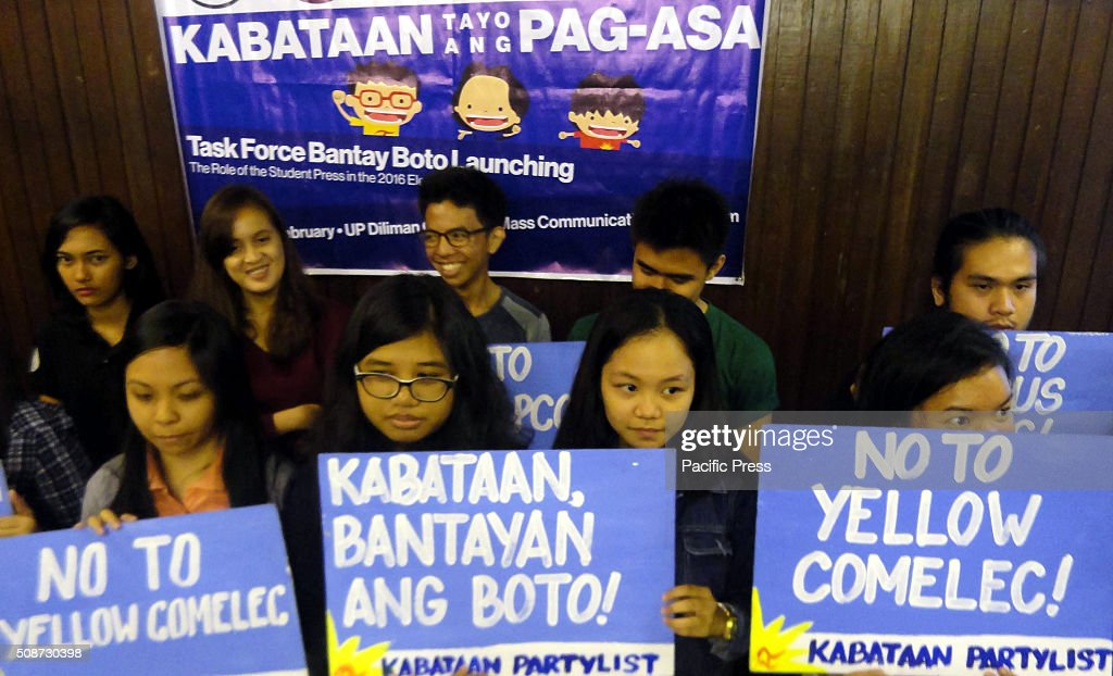 Filipino activists hold placards calling for clean and honest elections during a press conference in suburban Quezon City. The Philippines will hold its presidential elections on May 9, 2016, with five presidential candidates vying for the post.