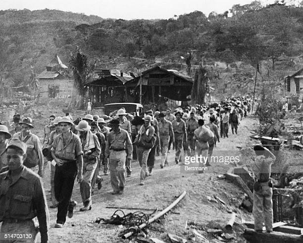 Filipino and American prisoners of war marched from Mariveles to San Fernando This march was named the Bataan Death March because of the high number...