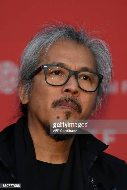 Filipino director Lav Diaz attends a press conference of the New Currents Jury for the 22nd Busan International Film Festival at the Busan Cinema...