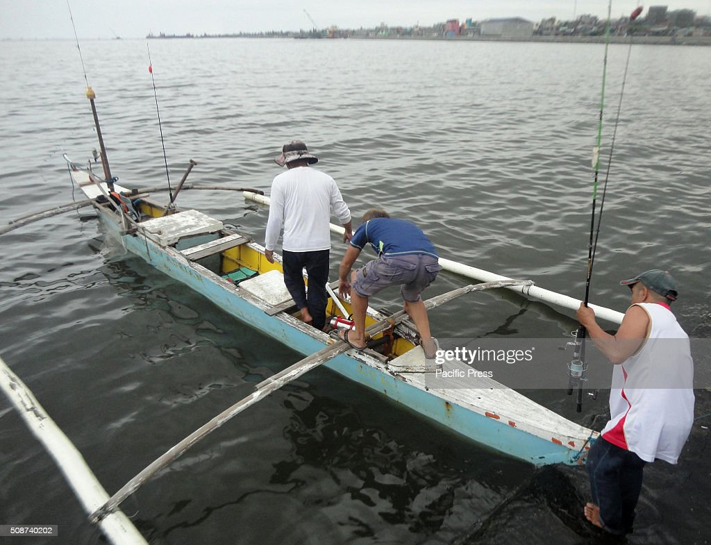 Filipino fishermen head out for the waters of Manila Bay. According to the Bureau of Fisheries and Aquatic Resources (BFAR), the prevailing El Nino phenomenon could affect at least 100,000 fisherfolk in the country due to the decline in fish production in freshwater areas and coastal communities. The water temperature increases in the Pacific and Western Pacific side of the country that will result in decrease of primary productivity and will lead to a decline in fish catch.