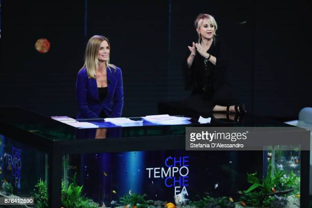 Filippa Lagerback and Luciana Littizzetto attend 'Che Tempo Che Fa' Tv Show at Rai Milan Studios on November 19 2017 in Milan Italy