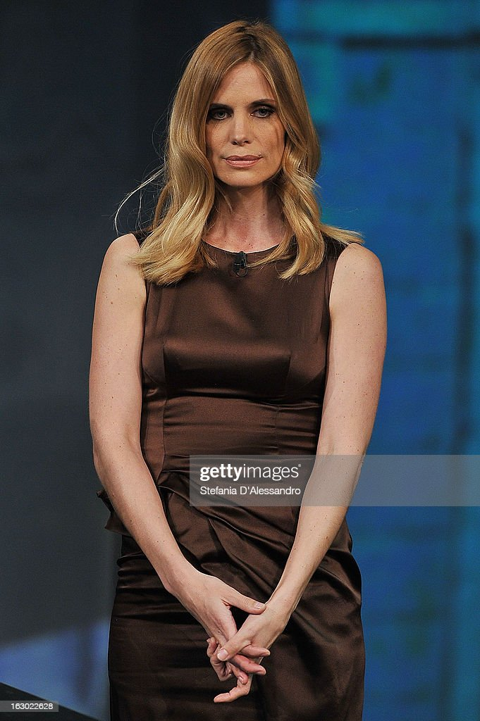 Filippa Lagerback attends 'Che Tempo Che Fa' Italian TV Show on March 3, 2013 in Milan, Italy.