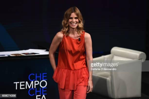 Filippa Lagerback attends 'Che Tempo Che Fa' tv show on March 26 2017 in Milan Italy