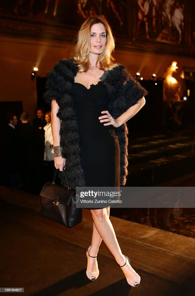<a gi-track='captionPersonalityLinkClicked' href=/galleries/search?phrase=Filippa+Lagerback&family=editorial&specificpeople=884874 ng-click='$event.stopPropagation()'>Filippa Lagerback</a> attends Ermanno Scervino fashion show as part of Pitti Immagine Uomo 83 at Palazzo Vecchio on January 9, 2013 in Florence, Italy.