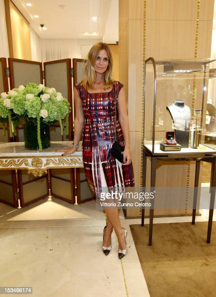 Filippa Lagerback attends the Cartier Boutique reopening cocktail party on October 5 2012 in Milan Italy