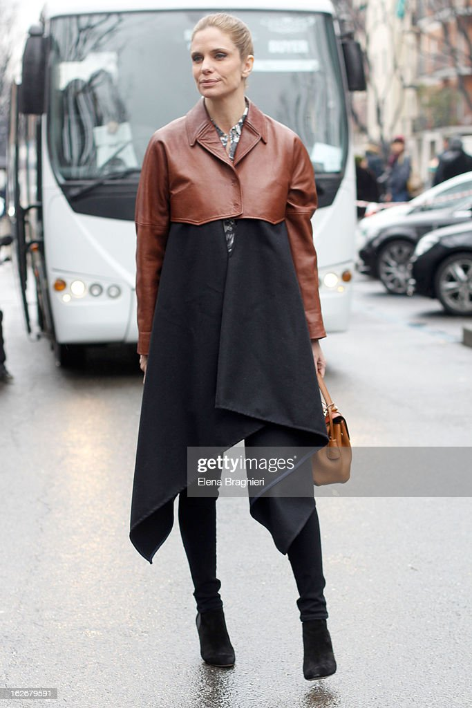 Filippa Lagerback attends the Milan Fashion Week Womenswear Fall/Winter 2013/14 on February 25, 2013 in Milan, Italy.