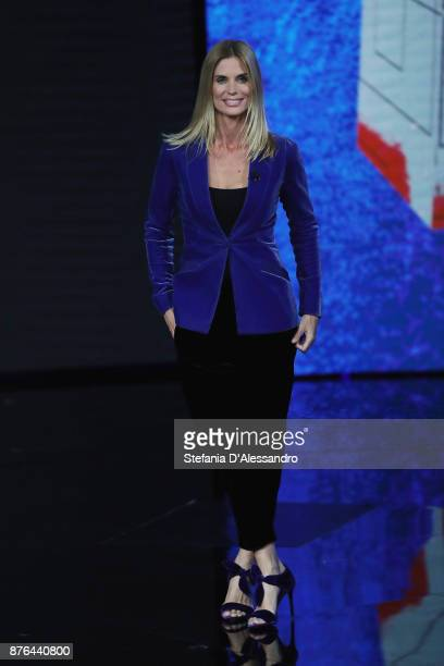 Filippa Lagerback attends'Che Tempo Che Fa' Tv Show at Rai Milan Studios on November 19 2017 in Milan Italy
