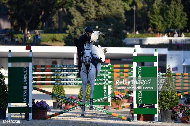 Filippo Bologni riding Cassino during the Six barriers Piazza di Siena Bank Intesa Sanpaolo in the Villa Borghese on May 27 2017 in Rome Italy