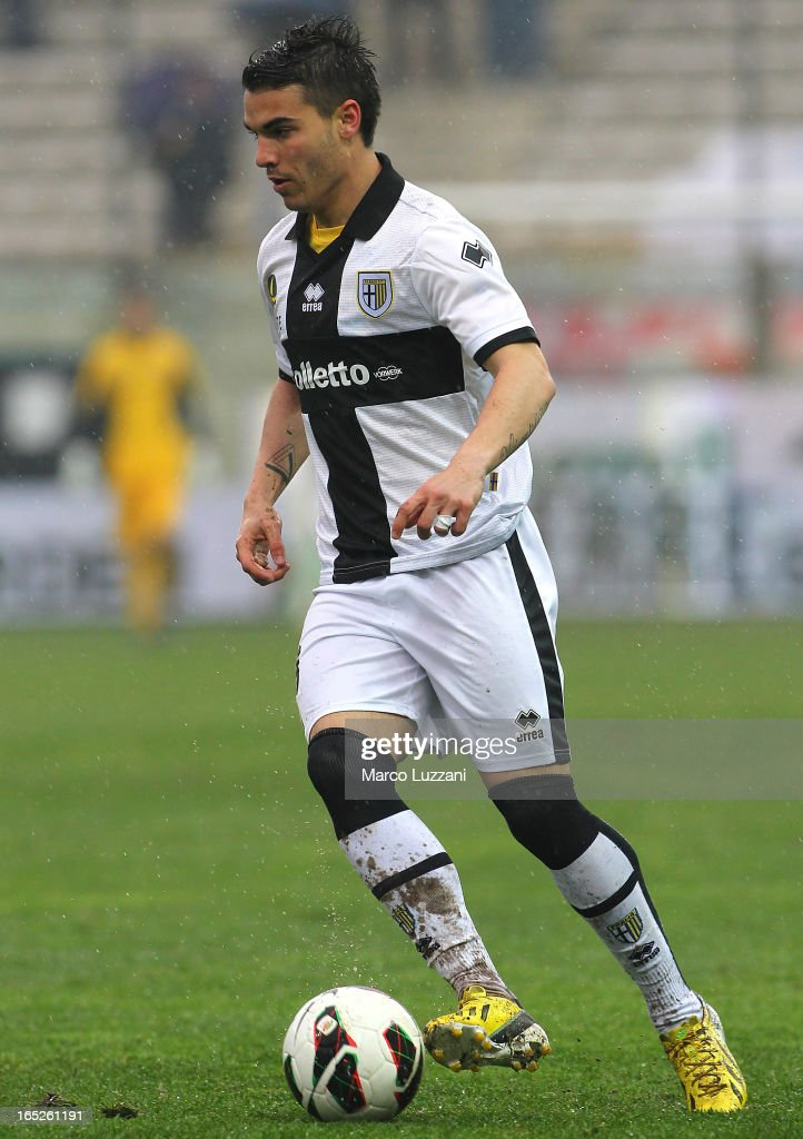 Filippo Boniperti of Parma FC in action during the Serie A match between Parma FC and Pescara at Stadio Ennio Tardini on March 30, 2013 in Parma, Italy.