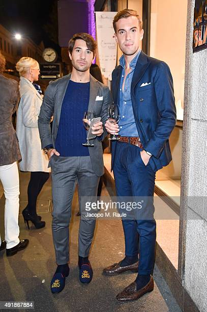 Filippo Cirulli and Filippo Fiora attend 'La Vendemmia 2015' The World's Finest Wine Lifestyle Experience on October 8 2015 in Milan Italy