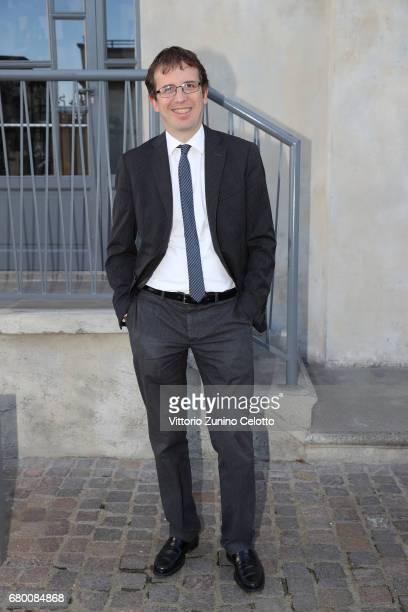 Filippo Del Corno attends a 'Private view of 'TV 70 Francesco Vezzoli Guarda La Rai' at Fondazione Prada on May 7 2017 in Milan Italy