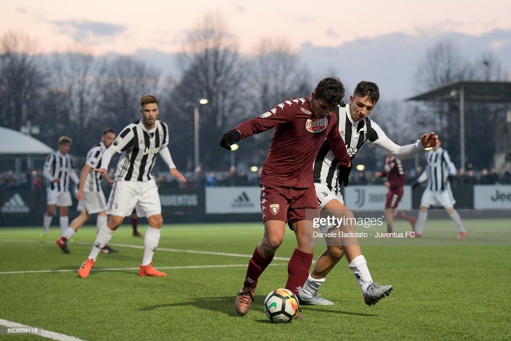 Filippo Delli Carri during the TIM Cup Primavera match between Juventus U19 and Torino FC U19 at Juventus Center Vinovo on November 29, 2017 in Vinovo, Italy.