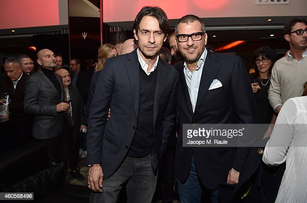 Filippo Inzaghi attends Infront Christmas Party on December 16 2014 in Milan Italy