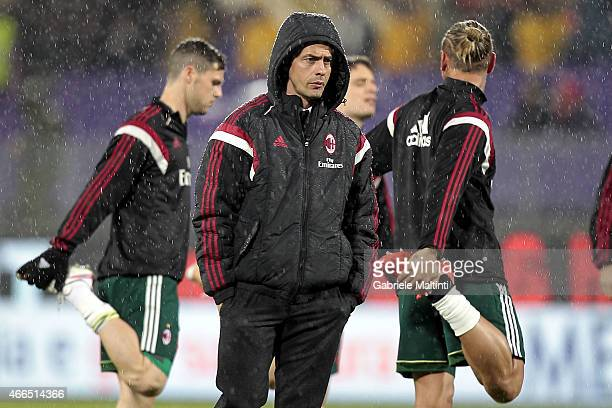 Filippo Inzaghi manager of AC Milan looks on before the Serie A match between ACF Fiorentina and AC Milan at Stadio Artemio Franchi on March 16 2015...