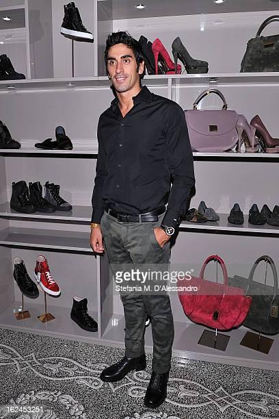 Filippo Magnini attends Le Silla Presentation during Milan Fashion Week Womenswear Fall/Winter 2013/14 on February 23 2013 in Milan Italy