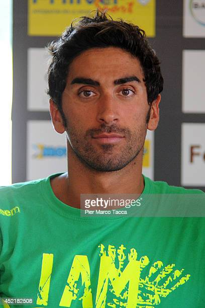 Filippo Magnini attends the Swimming Cup 2014 press conference on July 15 2014 in Milan Italy