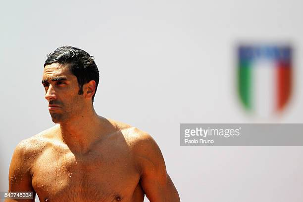 Filippo Magnini of Italy looks on after competing in the Men's 50m Freestyle heats during the 53rd 'Sette Colli' International Swimming Trophy at...
