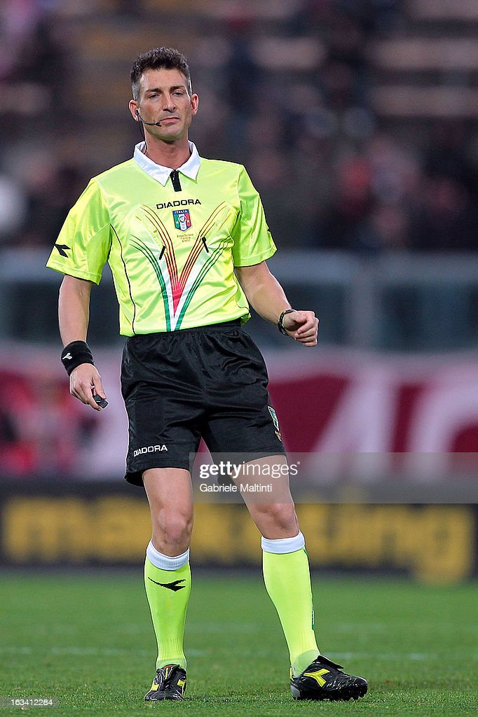 Filippo Merchiori of Ferrara referee during the Serie B match between AS Livorno and Reggina Calcio at Stadio Armando Picchi on March 9, 2013 in Livorno, Italy.