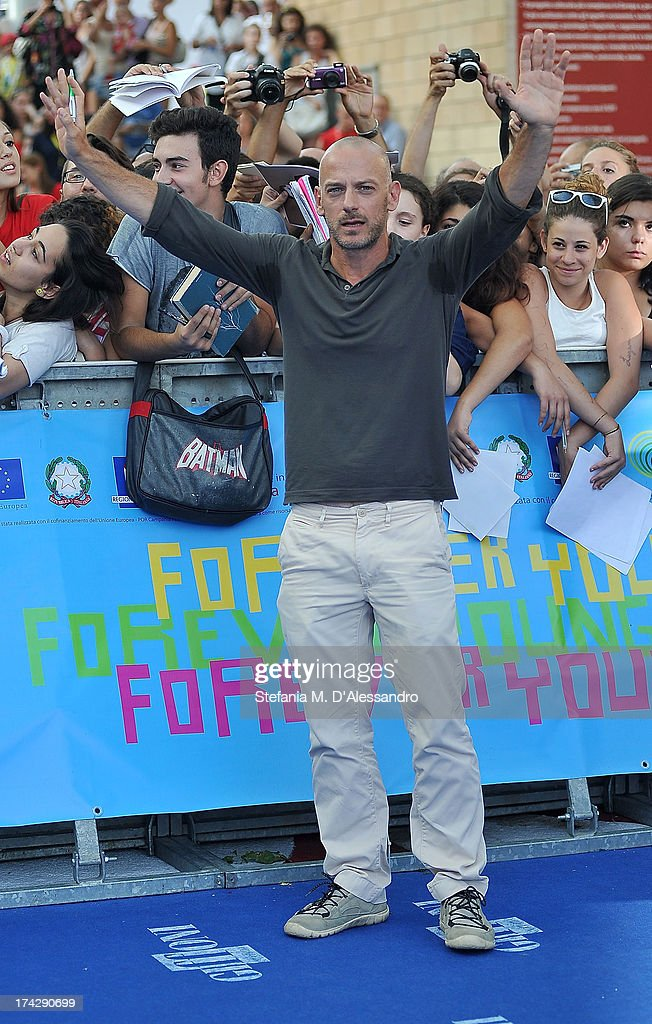 Filippo Nigro attends 2013 Giffoni Film Festival blue carpet on July 23, 2013 in Giffoni Valle Piana, Italy.