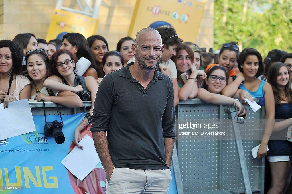 Filippo Nigro attends 2013 Giffoni Film Festival blue carpet on July 23, 2013 in Giffoni Valle Piana, Italy.