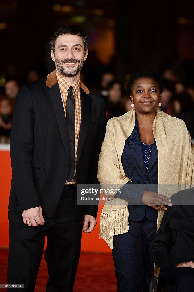 <a gi-track='captionPersonalityLinkClicked' href=/galleries/search?phrase=Filippo+Timi&family=editorial&specificpeople=4146821 ng-click='$event.stopPropagation()'>Filippo Timi</a> and Cecile Kyenge attend 'I Corpi Estranei' Premiere during The 8th Rome Film Festival on November 12, 2013 in Rome, Italy.