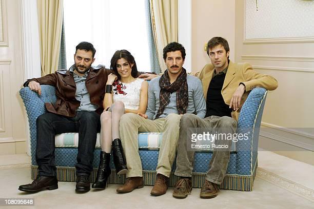 Filippo Timi Valeria Solarino Kim Rossi Stuart and Francesco Scianna attend the 'Vallanzasca Gli Angeli Del Male' photocall at Eden Hotel on January...