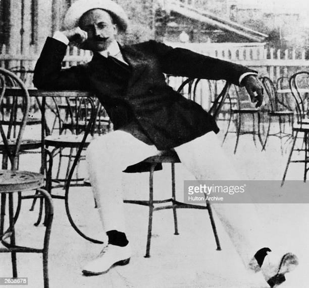 Filippo Tommaso Marinetti the writer founder and impresario of the Futurist movement which glorified war industrialism innovation and heroism