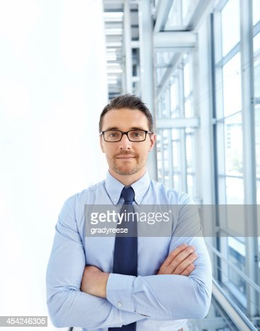 Filled with corporate confidence : Stock Photo