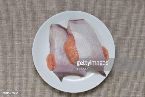 Fillet of flounder : Stock Photo
