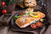 Fillet of salmon with vegetable