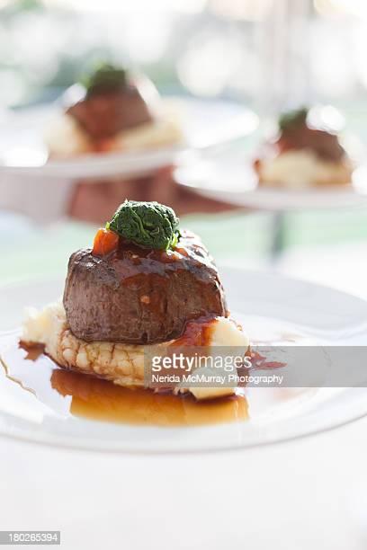 Fillet of steak on mash