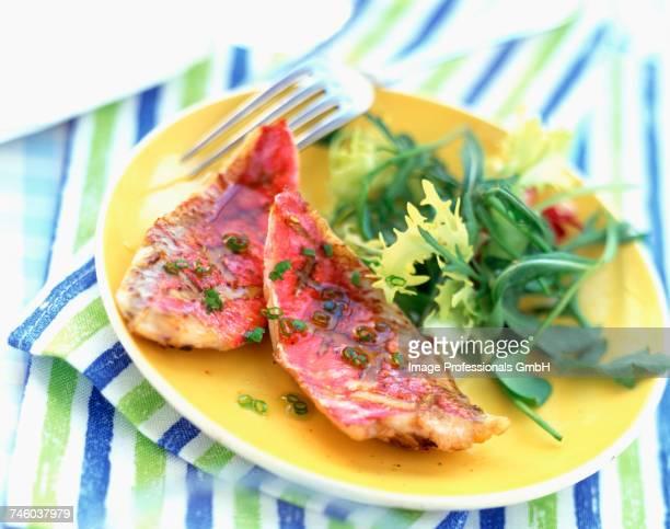 Fillet of surmullet and salad